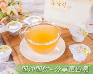 韓國人氣柚子茶隨身包,限時6.7折,今日結帳再享加碼折扣