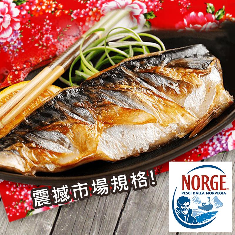4XL巨無霸挪威薄鹽鯖魚,今日結帳再打85折!