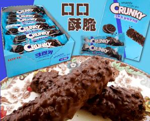 【樂天】CRUNKY巧克力棒,限時6.4折,今日結帳再享加碼折扣