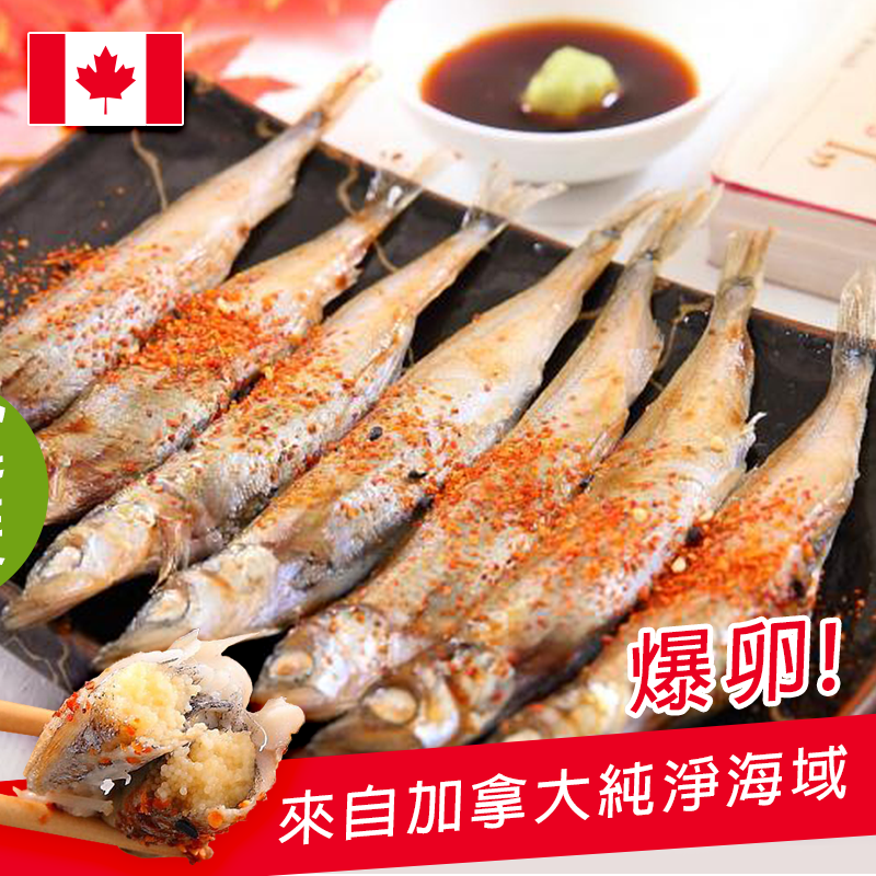 SGS加拿大爆卵柳葉魚,今日結帳再打85折!