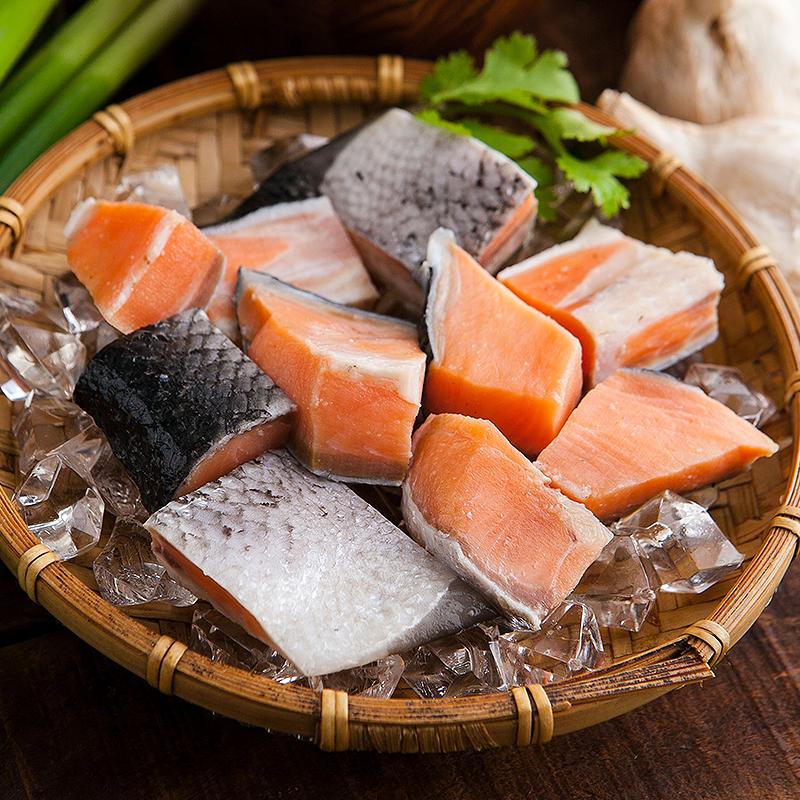 冷凍切塊智利鮭魚丁,今日結帳再打85折!
