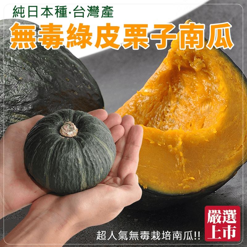 日本品種綠皮甜栗子南瓜,限時4.6折,請把握機會搶購!