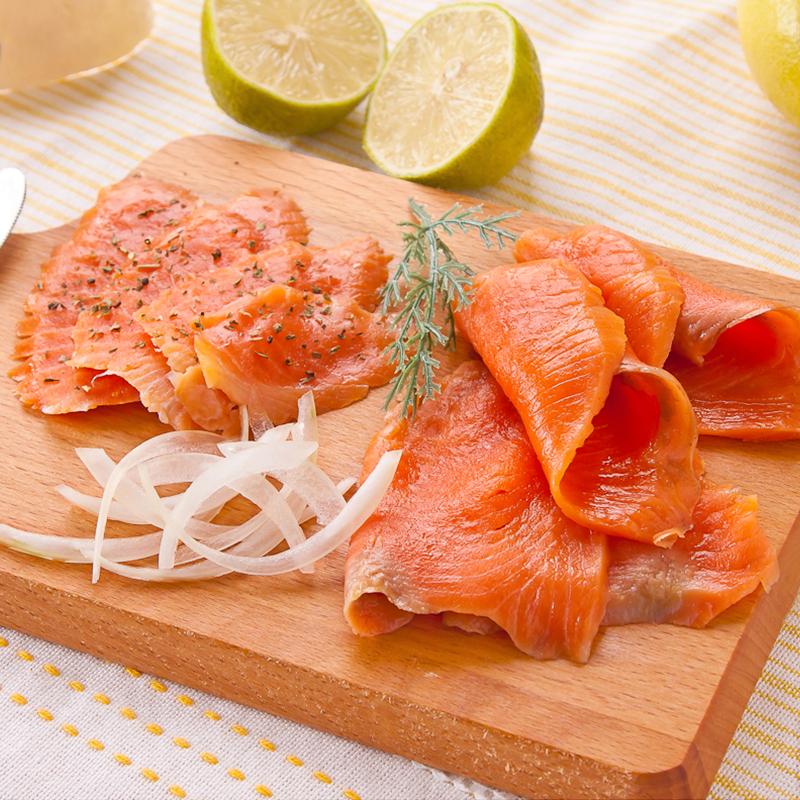 超厚超大片燻鮭魚,本檔全網購最低價!