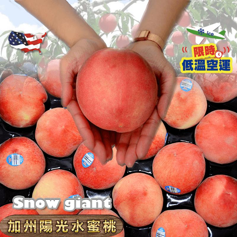 加州雪巨人水蜜桃禮盒,限時4.9折,請把握機會搶購!