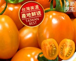 美濃人氣橙蜜香小番茄,限時7.2折,今日結帳再享加碼折扣