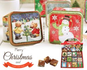 聖誕可可鮮奶糖小禮盒,限時7.3折,今日結帳再享加碼折扣