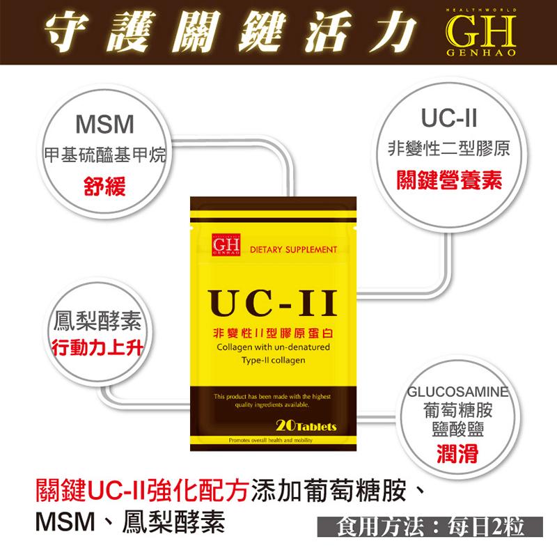 GENHAO菁禾非變性UC-Ⅱ型膠原蛋白,限時破盤再打82折!