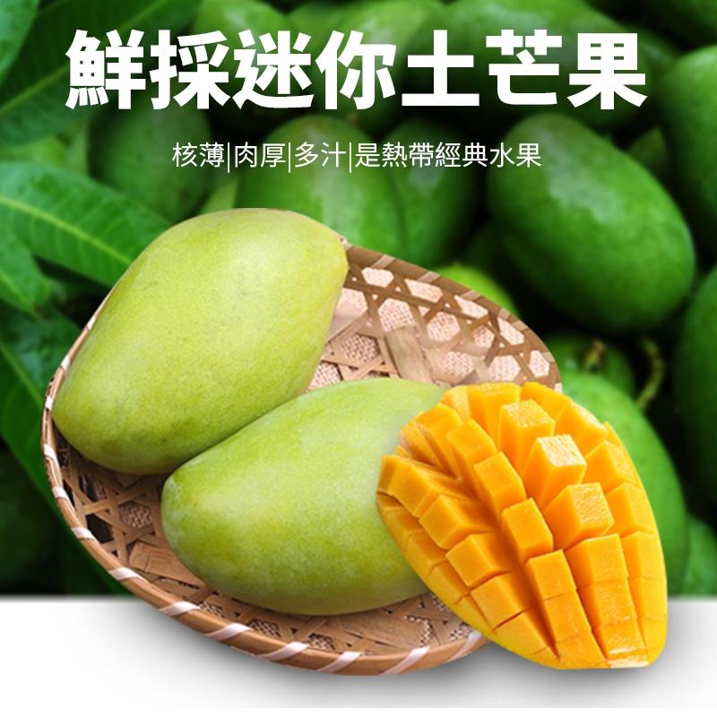 迷你美味在地鮮採土芒果,限時5.9折,請把握機會搶購!
