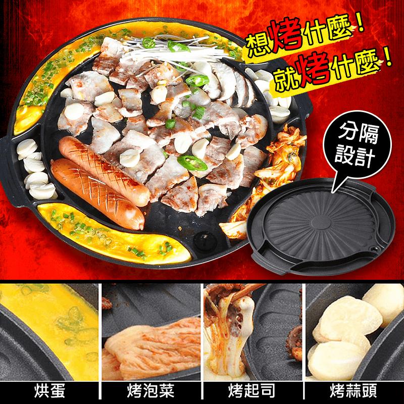 KITCHEN ART韓國烘蛋6格圓烤肉盤組KA-1508,本檔全網購最低價!