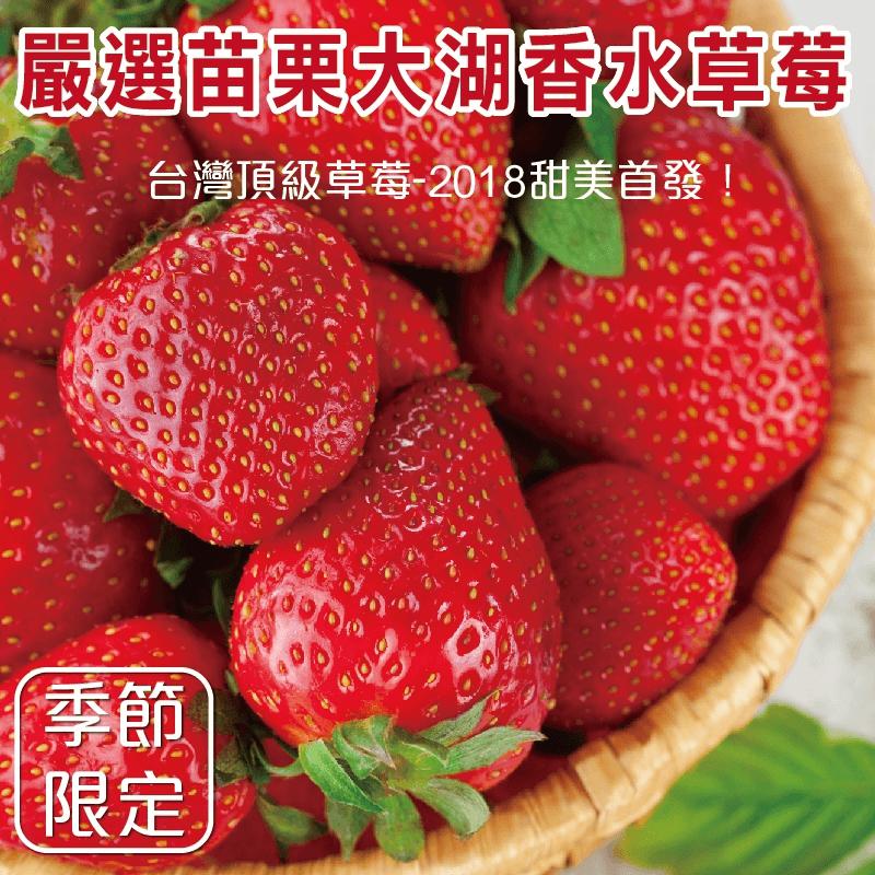 台灣大湖大顆香水草莓,本檔全網購最低價!