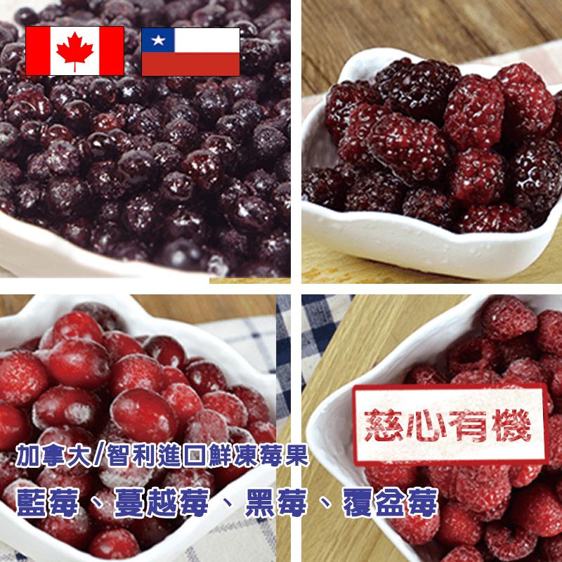 有機進口鮮凍花青莓果,今日結帳再打85折!