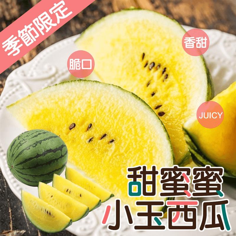 甜蜜蜜晶黃小玉西瓜,限時5.1折,請把握機會搶購!